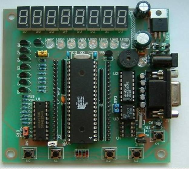 点亮 led, 各种跑马灯 2. 数码管显示数字和字母 ,.